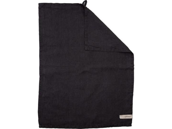 ERNST - Lniany ręcznik kuchenny czarny