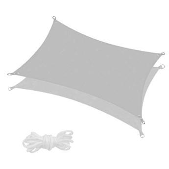 Żagiel przeciwsłoneczny 4x3m prostokątny, wodoodporny szary