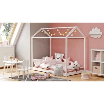 Białe drewniane łóżko domek - Melody