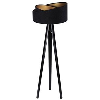 Czarna lampa stojąca glamour - EXX253-Agra