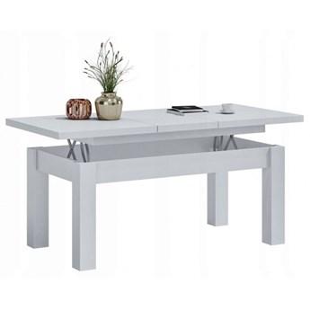 Biały rozkładany minimalistyczny ławostół - Atoli