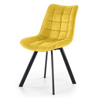 Nowoczesne krzesło tapicerowane Winston - musztardowy