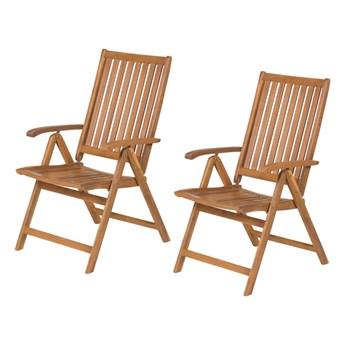 komplet regulowanych krzeseł ogrodowych 4001 T brązowe