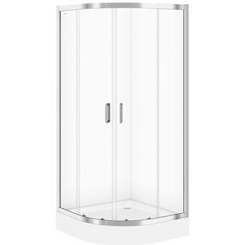 Kabina prysznicowa półokrągła ARTECO 90x190 szkło transparentne