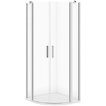 Kabina prysznicowa półokrągła MODUO 80x195 szkło transparentne