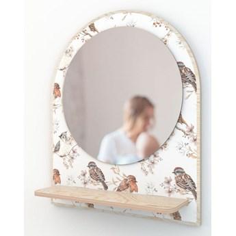 Lustro Birds White Dekornik
