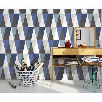 Tapeta Hexagons Long Blue Humpty Dumpty