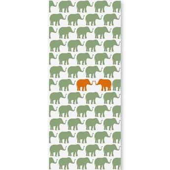 Tapeta Orange Elephants Humpty Dumpty