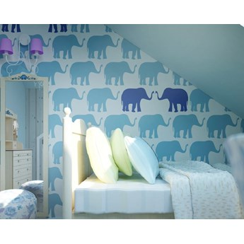 Tapeta Blue Elephants Humpty Dumpty