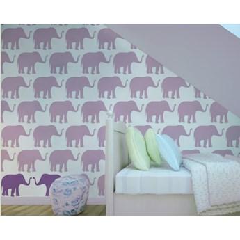 Tapeta Violet Elephants Humpty Dumpty