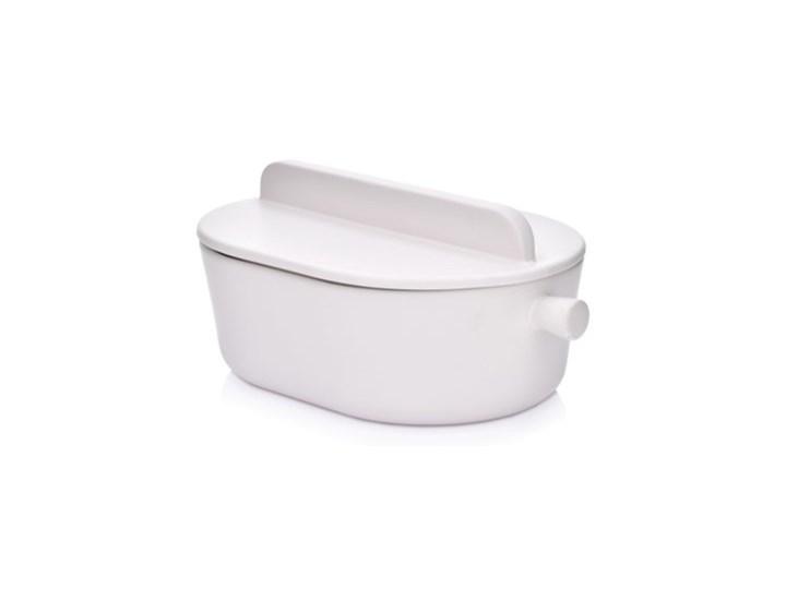 Brytfanna do pieczenia z pokrywką DUKA HJALMAR 3000 ml biała kamionka Kolor Biały Naczynie do zapiekania Naczynie z pokrywką Kategoria Naczynia do zapiekania