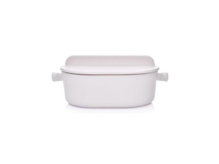 Brytfanna do pieczenia z pokrywką DUKA HJALMAR 3000 ml biała kamionka Naczynie do zapiekania Kolor Biały Naczynie z pokrywką Kategoria Naczynia do zapiekania