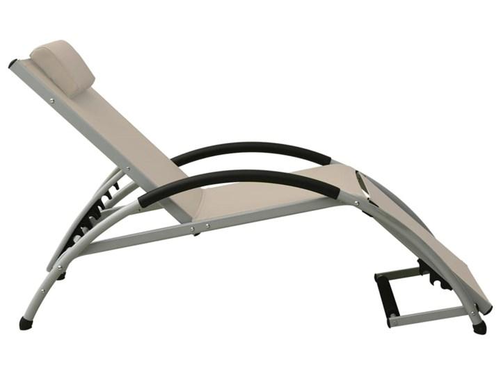 vidaXL Leżak z poduszką, tkanina textilene, kolor taupe Z regulowanym oparciem Aluminium Kategoria Leżaki ogrodowe