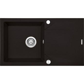 Deante Evora zlewozmywak granitowy 78x44 cm czarny mat ZQJ N113