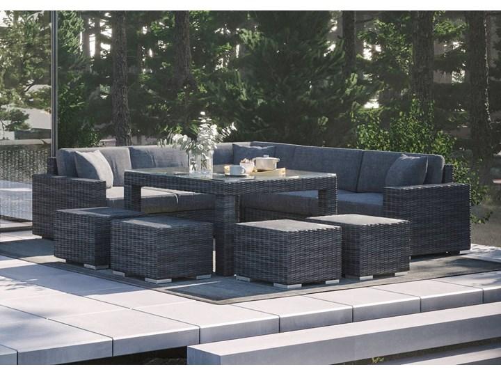 Meble ogrodowe MILANO IV royal szary Technorattan Aluminium Tworzywo sztuczne Zawartość zestawu Stolik Zestawy wypoczynkowe Styl Nowoczesny