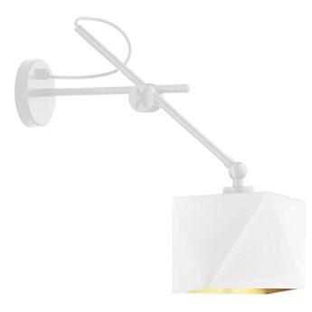 Biała lampka ścienna ze złotym wnętrzem TIRANA GOLD WYSYŁKA 24H