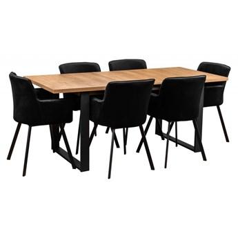 Zestaw LOFT Stół z Krzesłami do Salonu 190/150x80