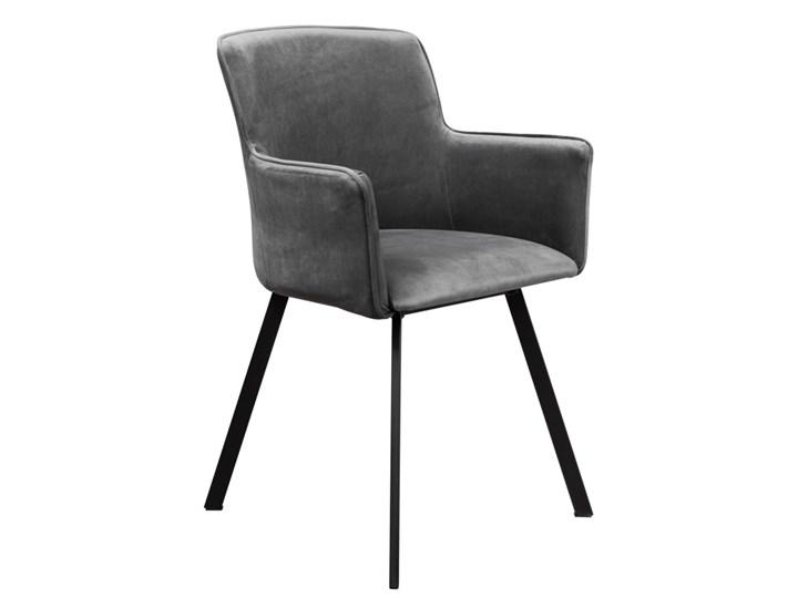 Zestaw LOFT Stół + Szare Krzesła do Salonu 150x80 Kolor Brązowy