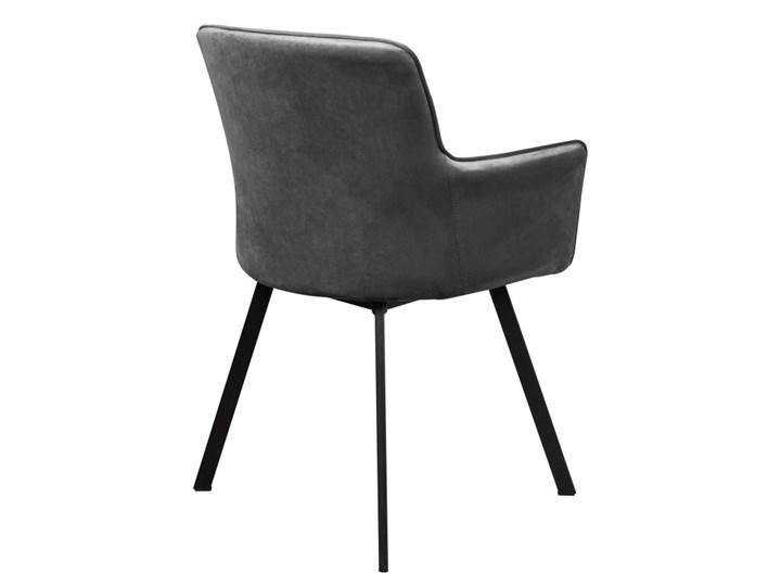 Zestaw LOFT Stół + Szare Krzesła do Salonu 150x80 Kategoria Stoły z krzesłami Kolor Brązowy