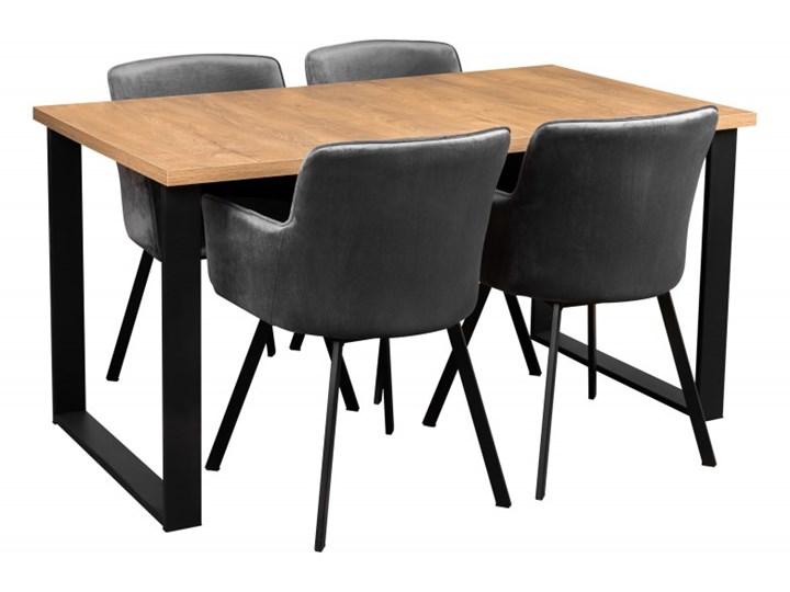 Zestaw LOFT Stół + Szare Krzesła do Salonu 150x80