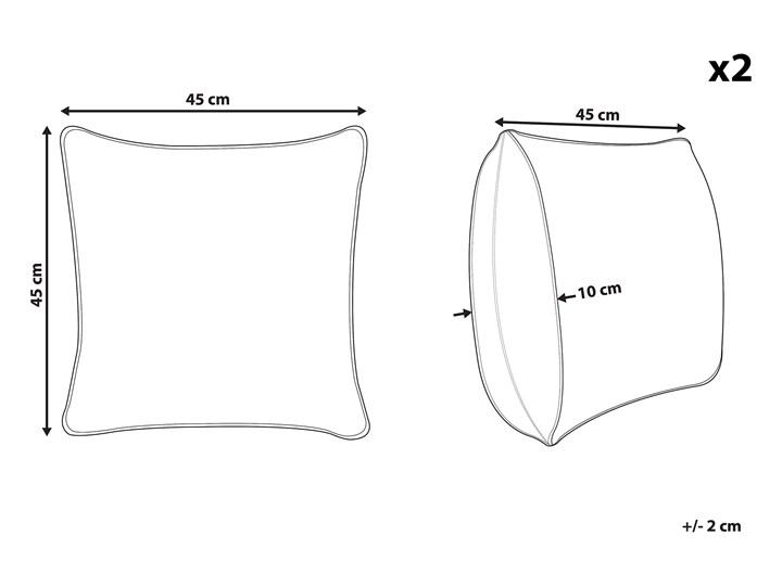 Zestaw 2 poduszek dekoracyjnych różowy 45 x 45 cm vintage z wypełnieniem ozdobny akcesoria salon sypialnia Poliester Poduszka dekoracyjna Kategoria Poduszki i poszewki dekoracyjne Bawełna Żakard 45x45 cm Kwadratowe Kolor Brązowy