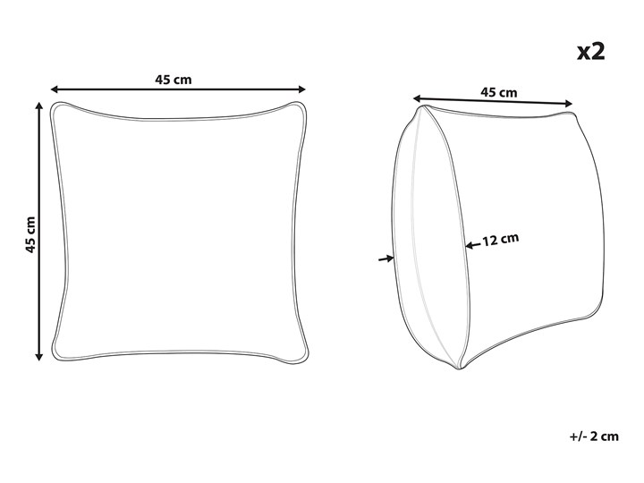 Zestaw 2 poduszek dekoracyjnych wielokolorowe wzór geometryczny trójkąty 45 x 45 cm z wypełnieniem ozdobna akcesoria salon sypialnia 45x45 cm Kategoria Poduszki i poszewki dekoracyjne Poszewka dekoracyjna Kwadratowe Poliester Kolor Szary