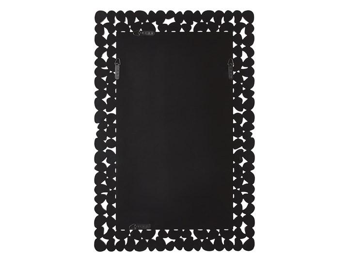 Lustro ścienne srebrne 60 x 90 cm prostokątne wiszące dekoracyjna lustrzana rama styl glamour Kolor Srebrny Nieregularne Lustro z ramą Kategoria Lustra