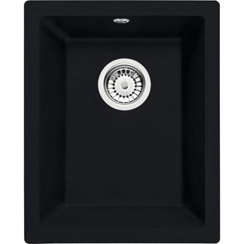 Deante Corda zlewozmywak granitowy 38x46 cm czarny mat ZQA N10B