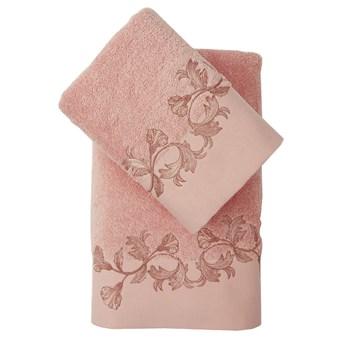 Bilge Ręcznik bawełniany frotte VIERA/3455/coral 50x90+70x140 kpl.