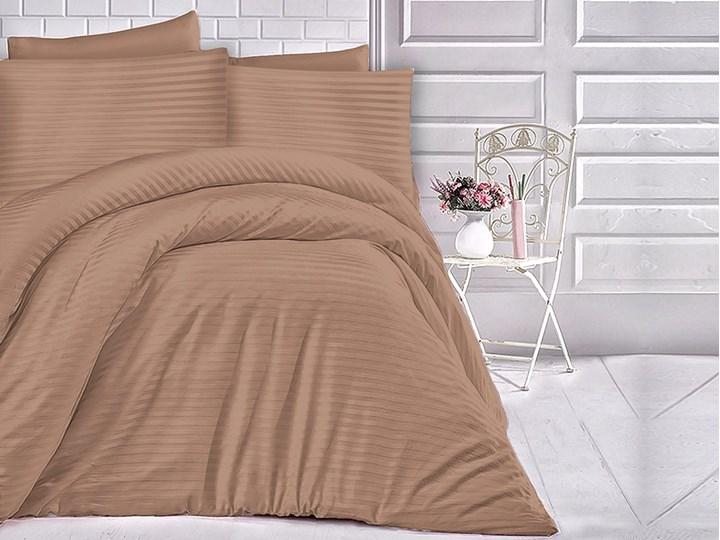 Darymex Pościel satyna bawełniana 200x220 Exclusive Cizgili Cinnamon Komplet pościeli 70x80 cm 200x220 cm Bawełna Rozmiar poduszki 70x80 cm