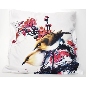 Poszewka dekoracyjna Two Birds & Red Flowers 42x42