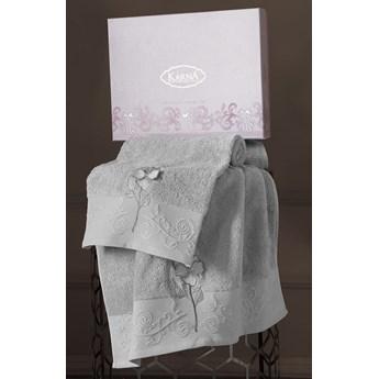 Bilge Ręcznik bawełniany frotte LILYAN/3453/grey 50x90+70x140 kpl.
