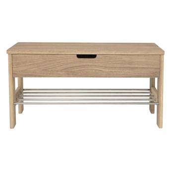 Ławka ze schowkiem z drewna dębowego Canett Uno