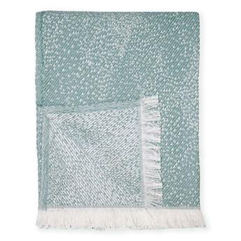 Zielony pled z domieszką bawełny Euromant Dotty Diamond, 140x180 cm