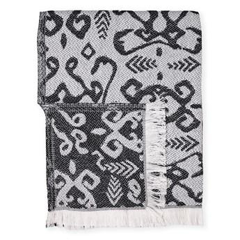 Czarny pled z domieszką bawełny Euromant Summer Mykonos, 140x180 cm