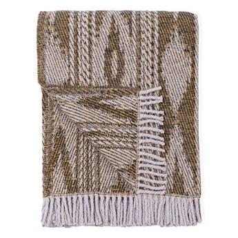 Jasnobrązowy pled z domieszką bawełny Euromant Zanzibar, 140x180 cm