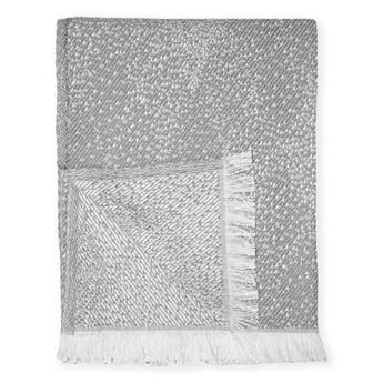 Szary pled z domieszką bawełny Euromant Dotty Diamond, 140x180 cm