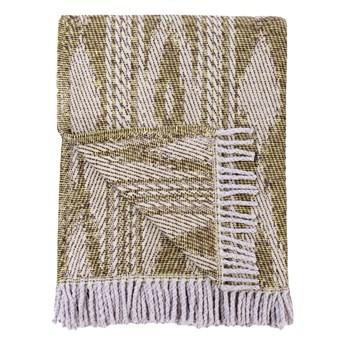 Ciemnozielony pled z domieszką bawełny Euromant Zanzibar, 140x180 cm