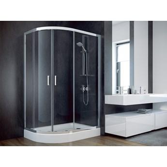 Kabina prysznicowa Modern 185, 100x80 cm, asymetryczna, szkło grafitowe