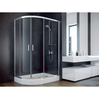 Kabina prysznicowa Modern 185, 120x90 cm, asymetryczna, szkło grafitowe