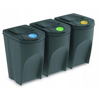 Zestaw koszy do segregacji odpadów Sortibox Prosperplast 3x35l