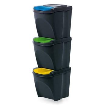 Zestaw koszy do segregacji odpadów Sortibox Prosperplast 3x25l
