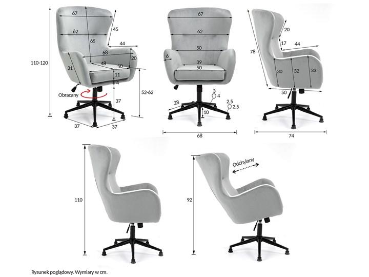 Fotel obrotowy w stylu skandynawskim  Svein (YC-9118) Różowy Głębokość 74 cm Tkanina Metal Wysokość 120 cm Fotel pikowany Kategoria Fotele do salonu
