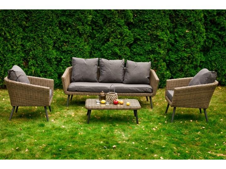 Nowoczesne meble z technorattanu ANTICO sofa 3 osobowa Tworzywo sztuczne Zestawy wypoczynkowe Aluminium Kategoria Zestawy mebli ogrodowych