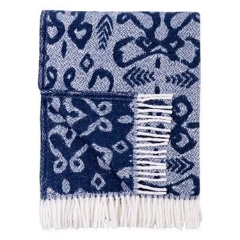 Niebieski pled z domieszką bawełny Euromant Mykonos, 140x180 cm