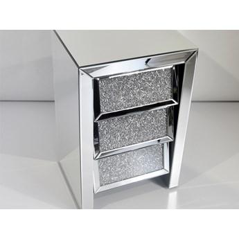 Lustrzana szafka nocna z kryształkami 45 x 36 x 70 cm 17JS002 outlet