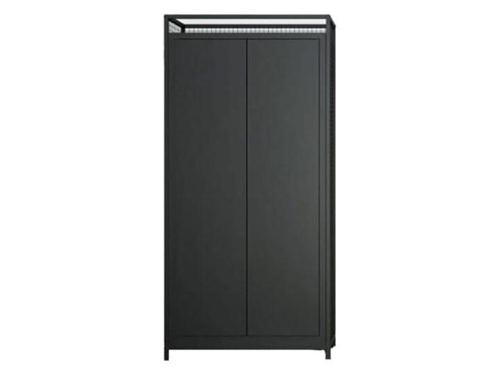 Meble loftowe LOV - szafa LOV7c Kolor Czarny Stal Metal Głębokość 44,5 cm Wysokość 220 cm Szerokość 106 cm Rodzaj drzwi Uchylne