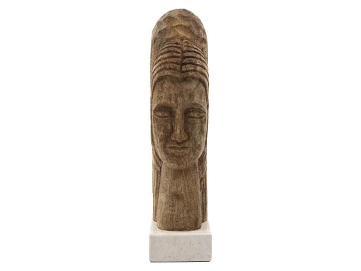 RZEŹBA DZIEŁO SZTUKI MINDFUL NATURAL HOUSE DOCTOR Drewno Marmur Kategoria Figury i rzeźby Kolor Brązowy