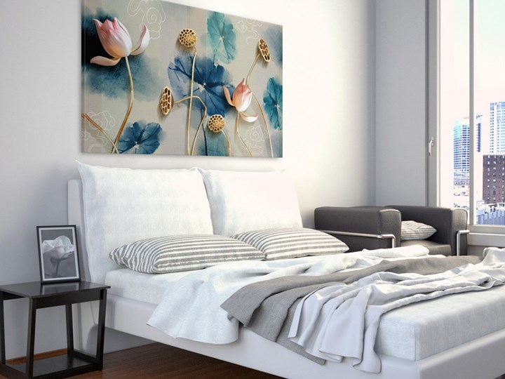 Atramentowe pasje - nowoczesny obraz na płótnie - 120x80 cm Pomieszczenie Sypialnia