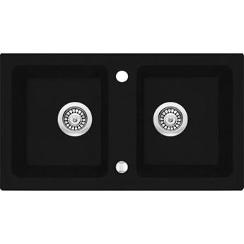 Deante Zorba zlewozmywak granitowy 78x43,5 cm czarny mat ZQZ N203